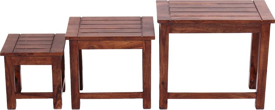 Blueginger Solid Wood Nesting Table