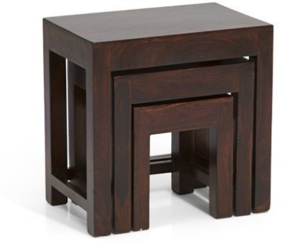 HomeEdge Solid Wood Nesting Table