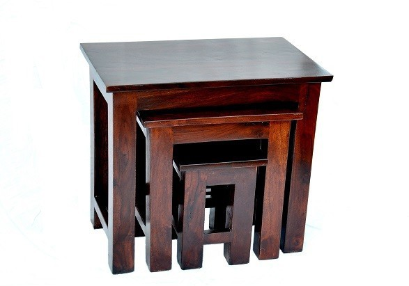 View Ringabell Solid Wood Nesting Table(Finish Color - Mahogany, Set of - 3) Price Online(Ringabell)