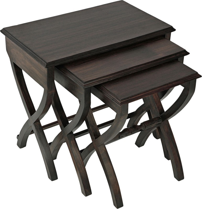 Smarvvv Productions Classy Solid Wood Nesting Table(Finish Color - Brown, Set of - 3)