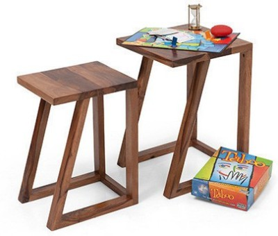 HomeEdge Solid Wood Nesting Table(Finish Color - PROVINCIAL TEAK, Set of - 2)