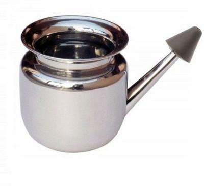 Naturofy Steel Silver Neti Pot
