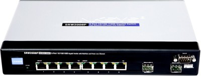 Cisco SRW2008P 8 Port Gigabit Switch - WebView- Poe Network Switch
