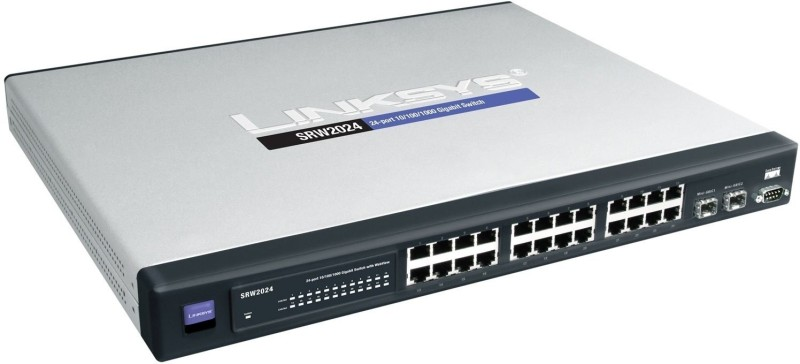 Cisco SG300-28 28-port Gigabit Managed Switch - SRW2024-K9-Eu Network Switch(Silver)