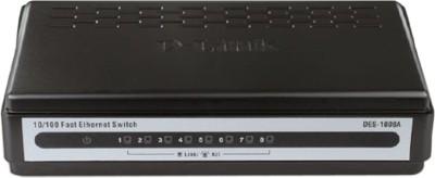 D-Link 8-Port 10/100 Mbps Network Switch(Black)
