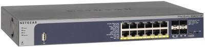 Netgear New Prosafe 12-Port Desktop Gigabit L2+ Managed Switch with Poe+ Network Switch(Silver)