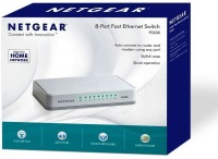 Netgear FS208 8 Port Fast Ethernet Network Switch(White)