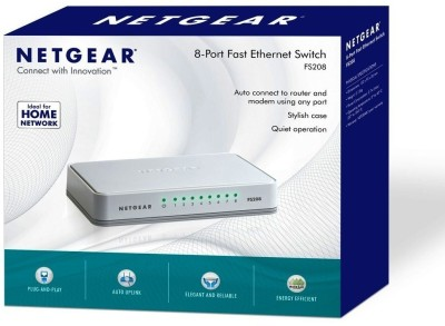 Netgear FS208 8 Port Fast Ethernet Network Switch