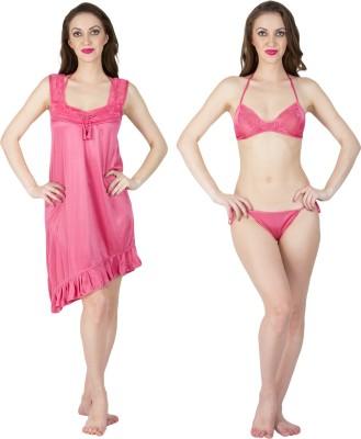 Bombshell Women's Nighty(Pink) at flipkart