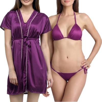 You Forever Women's Robe(Purple) at flipkart