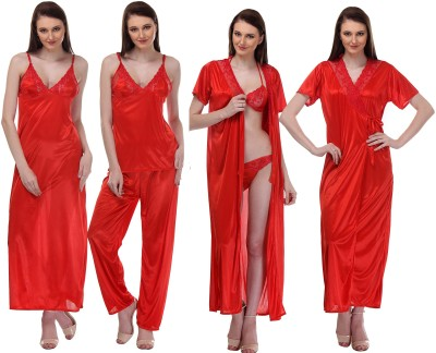 Glamcouture Women's Nighty with Robe