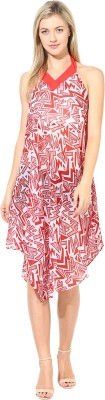 Athena Women's Night Gown(Red) at flipkart