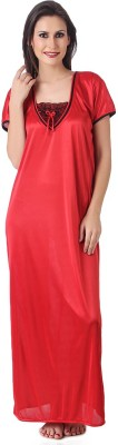 Masha Women's Nighty(Red) at flipkart