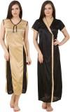 Fasense Women's Nighty with Robe (Black,...