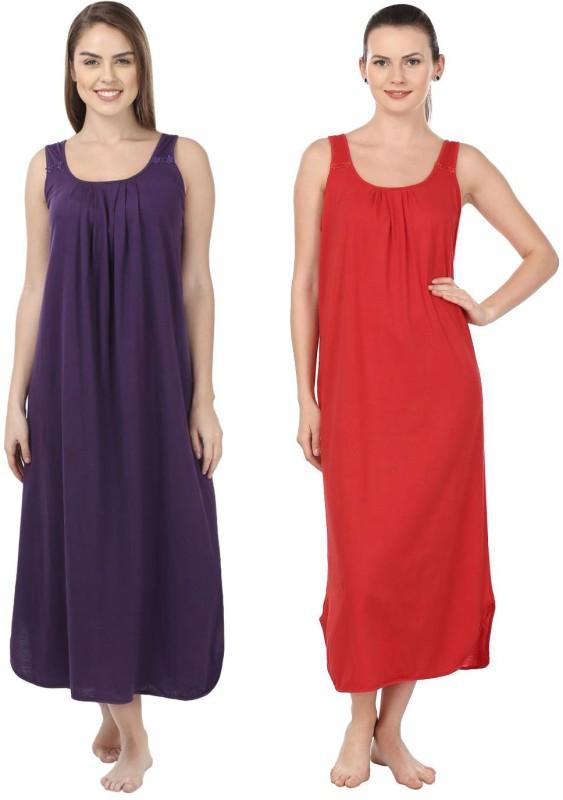 e9c82e4072 Blazon Womens Nighty Purple Red    Mega Discount Bazaar