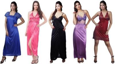 Boosah Women's Nighty with Robe(Multicolor) at flipkart