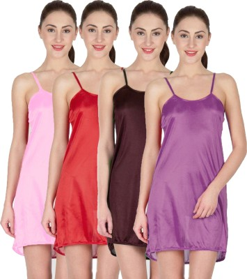 You Forever Women's Nighty(Brown, Pink, Purple, Maroon) at flipkart