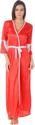 Masha Women's Night Dress(Red) at flipkart
