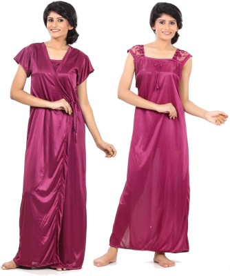 Fashigo Women's Nighty with Robe