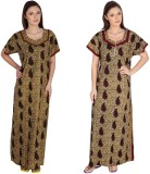 Guru Nanak Fashions Women's Nighty (Brow...