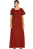 Maa Collection Women's Nighty (Red)