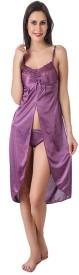 Krazy Katz Women's Nighty(Purple)