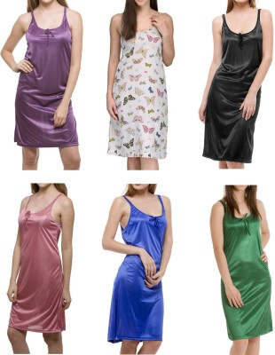 Meow Women's Nighty(Purple, Multicolor, Black, Pink, Blue, Green) at flipkart