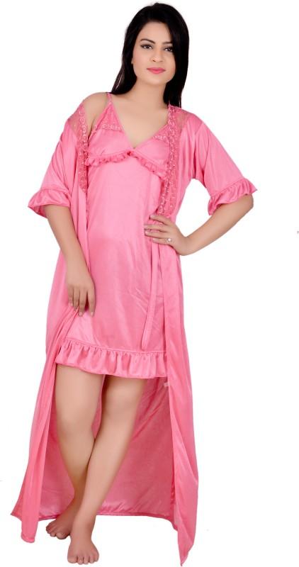 Secret Wish Women\'s Cotton Nighty, Nightdress (Free Size ...