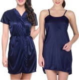 You Forever Women's Nighty with Robe (Bl...