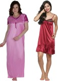 Secret Wish Women's Nighty (Multicolor)