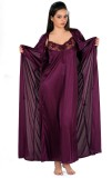 Turnpike Women's Nighty with Robe (Purpl...