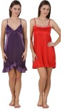 Freely Women's Nighty (Pink, Red)