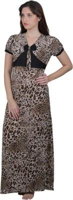 Vixenwrap Women's Nighty(Brown, Black) at flipkart