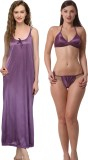 Being Fab Women's Nighty (Purple)