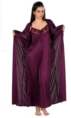 PINK SISLY Women's Nighty with Robe