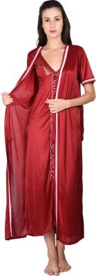 Go Glam Women's Nighty with Robe