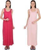 Simrit Women's Nighty (Pink, Pink)
