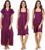 CrazyLiner Women's Nighty with Robe (Pur...