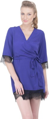 Oxolloxo Women's Robe(Blue) at flipkart