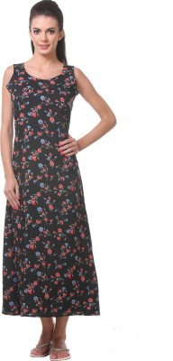 Tweens Women's Night Dress(Black) at flipkart