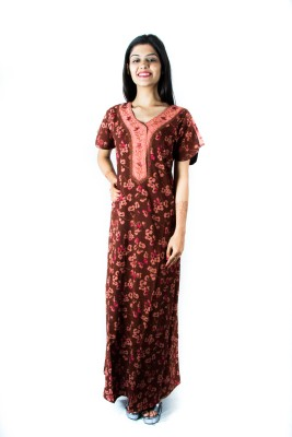 V Brown Women's Nighty