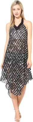 Athena Women's Night Gown(Black) at flipkart