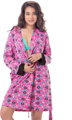 PrettySecrets Women's Robe(Pink) at flipkart