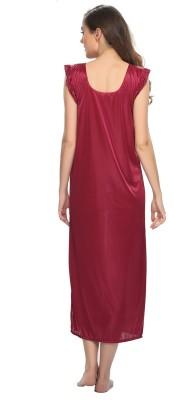 Clovia Women's Nighty with Robe, Top and Capri