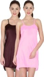 You Forever Women's Nighty (Brown, Pink)