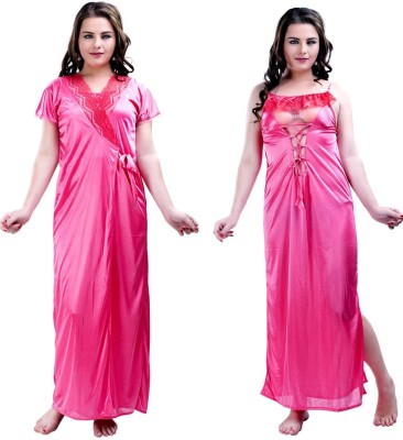 Hotnsweet Women's Nighty with Robe