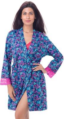 PrettySecrets Women's Robe(Blue) at flipkart