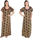 Guru Nanak Fashions Women's Nighty (Red,...