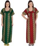 Guru Nanak Fashions Women's Nighty (Gree...