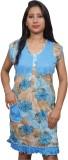 Indiatrendzs Women's Nighty (Blue)